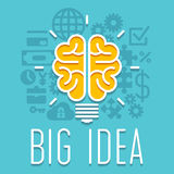 Rich idea innovation light bulb infographic concept Stock Images