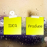 Rich idea process sticky paper Royalty Free Stock Photo