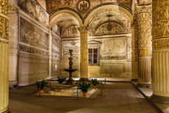 Rich Interior av Palazzo Vecchio (den gamla slotten) Royaltyfri Fotografi