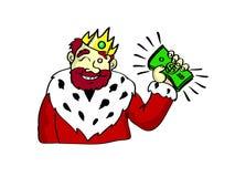 Rich King stock illustration. Illustration of king, money - 10717851