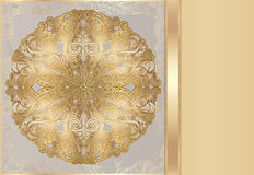 Rich lace pattern. Luxury card with a rich lace pattern. Luxurious gold gift card. idea for invitations. there is a place for your text vector illustration