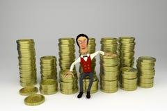 Rich man. 3D model of rich man vector illustration