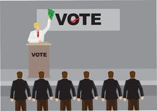Rich Man Giving Speech röstar på till supportertecknad filmvektorn Illu stock illustrationer