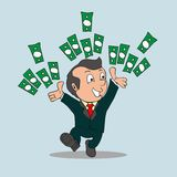The Rich Man cartoon vector Royalty Free Stock Images
