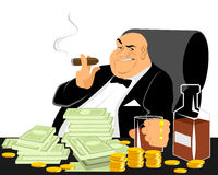 Rich man smoking Stock Image