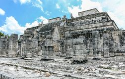 Warriors temple at Chichen Itza. Stock Images