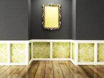A rich mirror on the dark wall, Royalty Free Stock Photos