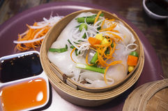 Rich noodle paste with bean sprout, Thai food Royalty Free Stock Images