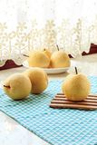Fresh pear. Rich in nutrition, contains a variety of vitamins and cellulose fruit stock image