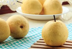 Fresh pear. Rich in nutrition, contains a variety of vitamins and cellulose fruit royalty free stock photos
