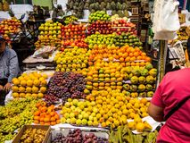 The rich offer of fruit at the market Areqipa Peru Royalty Free Stock Photos