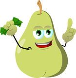 Rich pear with attitude Royalty Free Stock Images