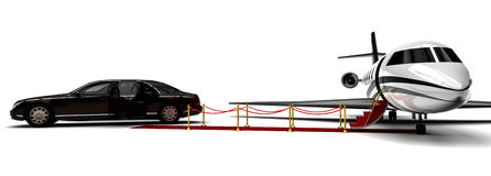 Rich People Rides. 3D render image representing a rich people transportation vehicles Stock Photography