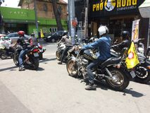 Rich people in Vietnam. There is 100% tax on imported motorbikes and cars in Vietnam. Very few people can afford to buy expansive motorbike like Harley-Davidson Royalty Free Stock Photography