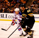 Rich Peverley and John Mitchell Bruins v. Rangers Stock Photos