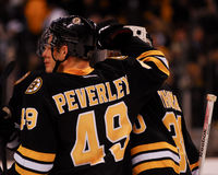 Rich Peverley and Tim Thomas Stock Image