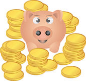 Rich pig Royalty Free Stock Image
