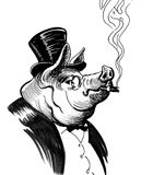 Rich Pig Stockbild