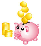 Rich piggy bank. Stock Images