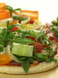 Rich pizza, closeup Royalty Free Stock Image