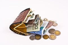 Rich polisch man's wallet. Royalty Free Stock Photos