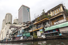 Rich and poor parts of Bangkok Royalty Free Stock Photography