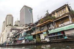 Rich and poor parts of Bangkok Royalty Free Stock Photography