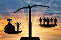 Rich poor scales justice Royalty Free Stock Photos