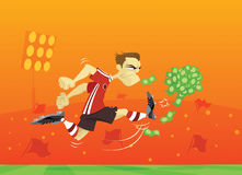 Rich Professional Soccer / Football Player Royalty Free Stock Image