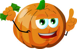 Rich pumpkin with attitude Royalty Free Stock Images