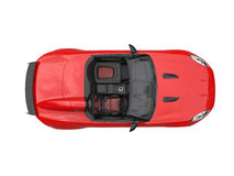 Rich red convertible sports car - top view. Isolated on white background vector illustration