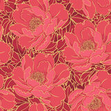 Rich red floral pattern Stock Image