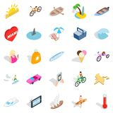 Rich rest icons set, isometric style. Rich rest icons set. Isometric set of 25 rich rest vector icons for web isolated on white background Royalty Free Stock Photos