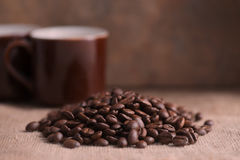 Rich roasted coffee beans Royalty Free Stock Photo