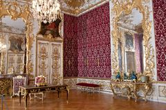 Rich Rooms, Residenz, Munich, Germany. The Rich Rooms, which acquired their name in the 19th century, are a highpoint of the court Rococo style in the German stock photography