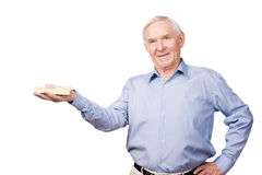 Rich senior man. Royalty Free Stock Photography