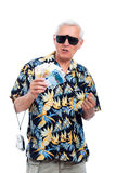 Rich senior tourist Royalty Free Stock Photo
