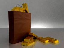 rich shoppar sig yourself Fotografering för Bildbyråer
