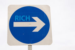 Rich sign Stock Image