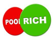 Rich Sign Represents Treasure Wealthy y finanzas Fotos de archivo