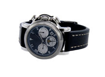 Rich silver chronograph watch Stock Photo