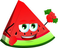 Rich slice of watermelon Royalty Free Stock Images