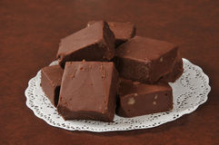 Rich sliced fudge Royalty Free Stock Images