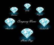 Free Rich Styled Web Menu Royalty Free Stock Photos - 8643228