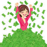 Rich Successful Businesswoman illustration stock