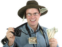 Rich tourist photographer Stock Photography