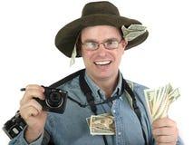 Rich tourist photographer Stock Photography