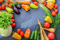 A rich variety of food photography Vegetables. stock image