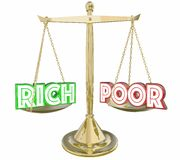 Rich Vs Poor Have or Not Scale Balance Class Warfare 3d Illustration stock illustration