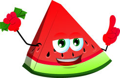 Rich watermelon with attitude Stock Image